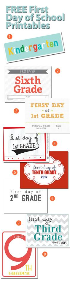 Start a great back to school photo tradition with these Free First Day of School Printables!