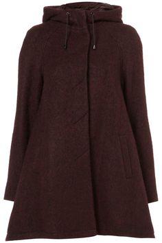 topshop burgundy coat