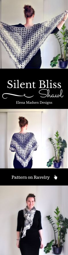Large and lacy crochet shawl pattern. Easy to make. Fully written and with charts! Pattern on Ravelry - looks REALLY nice in payette yarn....