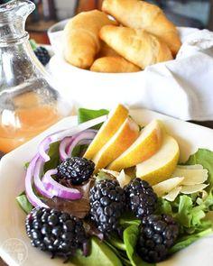 Pear Blackberry Salad with Lemon Vinaigrette – Like Mother, Like Daughter