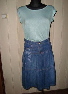 #jeans #dzins #haft #george #rozmiar36 #kieszenie #dzinsowaspodniczka #jeansowaspodniczka #nakazdaokazje #wyprzedazszafy #sprzedam #zamienie