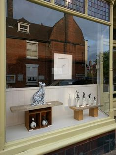 #InTheWindow... with a perfect reflection of the houses opposite!