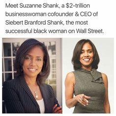 Suzanne Shank on Wall Street Black Power, Black Girls Rock, Black Girl Magic, Black History Facts, Black Pride, My Black Is Beautiful, African American History, Women In History, Black People