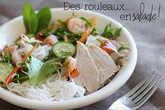 Pas juste bons au printemps, ces rouleaux de printemps peuvent également se servir en salade pour les plus paresseux!