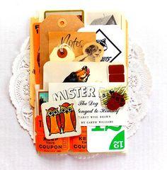 Nature Outdoors Animal Ephemera Pack / Cub Scouts / 35+ Pieces / Vintage Ephemera / Paper Ephemera / Tags / Journal