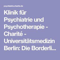 Klinik für Psychiatrie und Psychotherapie - Charité - Universitätsmedizin Berlin: Die Borderline-Störung