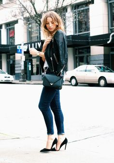 Leather jacket  @theaugustdiaries