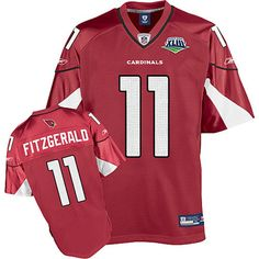 2009 Super Bowl-Larry Fitzgerald Red Jersey  TopFansGear Price: $19.99      This jersey belongs to Larry Fitzgerald      Color: red, Size: M, L, XL, XXL, XXXL      The jersey is made of heavy fabric with nylon diamond weave mesh      Player number, name embroidered on center of? back, chest?or shoulders      Team Logo embroidered on back      NFL logo embroidered on cent of chest      Machine washable the jersey      Do not exposure under the? Sunshine