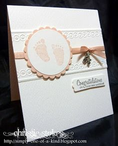 A plate (base Plate) Embossing folder with the card enclosed Tan Mat C Plate Result. crisp embossing and NO Lines! Pretty Cards, Cute Cards, Card Making Inspiration, Making Ideas, Pregnancy Congratulations, Hand Made Greeting Cards, New Baby Cards, Baby Shower Cards, Baby Kind
