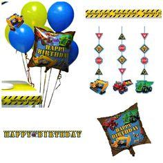 Under Construction Party Themed Decorations Kit - Birthday Boy Bundle