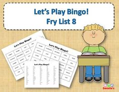 Fry List 8 - Words 701 to 800 40 Bingo Cards with Free Space 25 playing spaces per cards Call list of the 100 words randomized Print on card stock and laminate for multiple uses Print on regular paper for one-time use