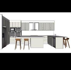 Kitchen design, designing, decor, 3d design, sketchup, interior design, technical drawing, designer