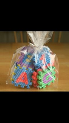 Inexpensive goodie bag idea for baby's 1st bday