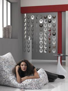 Tomasucci Dischi Rideau de porte, PVC, argent: Amazon.fr: Cuisine & Maison