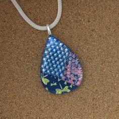 Blue Dichroic Pendant - Dichroic Dragonfly Pendant - Fused Glass Pendant - Dichroic Jewelry - Fused Glass Jewelry - Dragonfly Jewelry by GlassMystique on Etsy