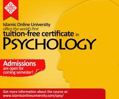 Islamic Online University offers a Certificate In Psychology! Info@iou.edu.gm