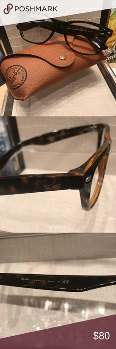RAYBAN EYEGLASSES UNISEX Tortoise RayBan eyeglasses.  Unisex and can be made clear or as sunglasses.  These have never been worn.. do not have demo lenses therefor I'm not considering it not new even tho they are. Ray-Ban Accessories Glasses