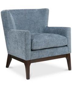 Audrey Accent Chair, Quick Ship - Blue
