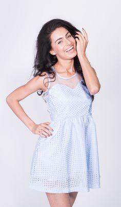 Kolekcja wiosna/lato 2015 #Depare #blue #dress #model #heart