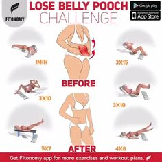 Proper nutrition and a good workout plan, such as this ab challenge, can help you lose belly pooch fast and get you ready for the summer. Proper nutrition and a good workout plan, such as this ab challenge, can help you lose belly pooch fast and ge Fitness Workouts, Fun Workouts, At Home Workouts, Fitness Motivation, Hiit Workouts With Weights, Best Workout Plan, Flexibility Workout, Lose Belly Fat, Lose Back Fat