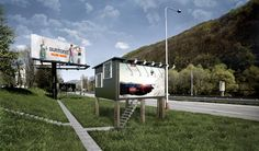 designdevelop converts billboards into houses for the homeless - designboom | architecture