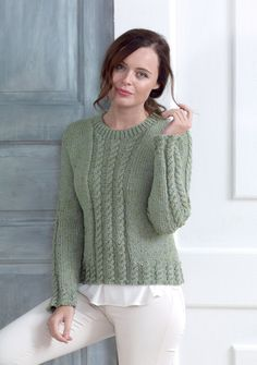 Cabled Cardigan & Sweater in King Cole, a beautiful women's pattern available at LoveKnitting.