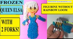 Queen Elsa figurine With two forks without Rainbow Loom Tutorial. (Mini ...