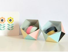 Polygonal geoboxes in Crafts for home stationery and paper for birthdays, anniversaries or dinners
