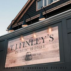 38 Best Exterior Front Sign Lighting Images