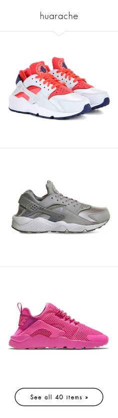 """huarache"" by nnenna21 ❤ liked on Polyvore featuring shoes, sneakers, grey, nike footwear, grey sneakers, nike trainers, gray sneakers, nike, men's fashion and men's shoes"