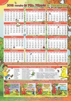 Flip Flippie and Friends Sesotho Calendar