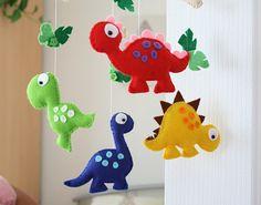 Vivero móvil - bebé móvil - dinosaurio móvil - colores primarios - hecho a pedido