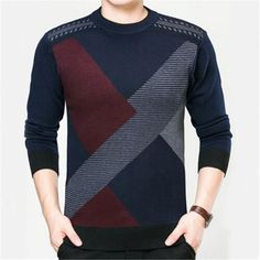 Winter Men Jumper Wool blends Knitted Sweater O-neck Long Sleeve Warm Pullovers Male 2017 New Sweaters Plus size brand-clothing