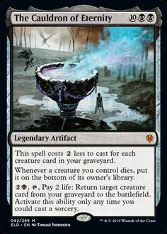 Throne of Eldraine. 4 The Cauldron of Eternity. mtg Magic the Gathering. These Magic the Gathering cards are in Excellent to Near Mint condition. Dungeons And Dragons Memes, The Valiant, Magic The Gathering Cards, Magic Cards, Wizards Of The Coast, Popular Memes, Creative Art, It Cast, Creatures