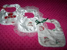 Baby 1st Christmas Bibs Ginger Bread Girl Frosty by HodgePodgeBaby