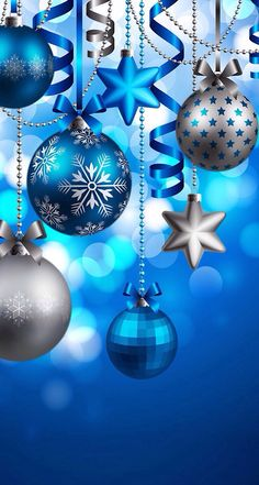 Try these stylish touches to freshen up your Christmas decorating and bring cheer to your house this holiday season with these Fresh Blue Christmas Decorating Ideas. Merry Christmas To All, Blue Christmas, Christmas Baubles, Christmas Pictures, Christmas Colors, Vintage Christmas, Christmas Holidays, Christmas Decorations, Family Holiday
