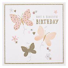 Buy Hotchpotch Butterflies Birthday Card Online at johnlewis.com