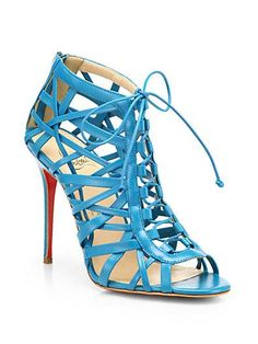 Such a sexy blue shoe from Christian Louboutin!
