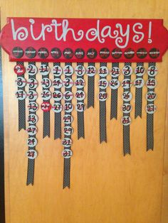 Custom Personalized Wooden Family Birthday Board on Etsy