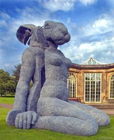 Sophie Ryder. Hare, Yorkshire Sculpture Park Animal Sculptures, Sculpture Art, Garden Sculpture, Sculpture Ideas, Sophie Ryder, Yorkshire Sculpture Park, Park Art, Beautiful Places In The World, Old Art