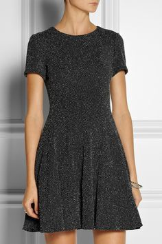 Cotton-blend mini dress