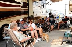 Good food, great friends and action-packed racing...what else could you ask for? #ItsBristolBaby #Camping