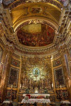 Interior of Santa Maria della Vittoria in Rome.