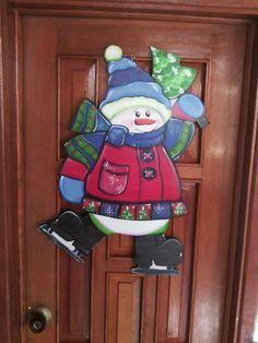 Muñecos Navideños En Mdf - Bs. 7.000,00 en Mercado Libre