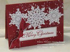 Festive Flurry, Embossing, Greetings of the Season, Cherry Cobbler, Vellum, Gorgeous Grunge, Christmas Card