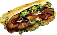 kebab with meat and veggies