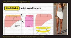 Modelagem mini saia com abertura lateral
