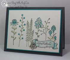 Today I'm sharing a sneak peek at an upcoming stamp set from the 2016 Stampin' Up! Sale-a-bration brochure.  I used the Flowering Fields stamp set to create my card for the Sunday Stamps SSC115 col...