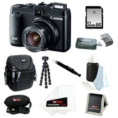 Canon PowerShot G16 12.1 MP CMOS Digital Camera Bundle with 32GB SD Memory Card + Small Case + 7-inch Spider Tripod + Accessory Kit  http://www.lookatcamera.com/canon-powershot-g16-12-1-mp-cmos-digital-camera-bundle-with-32gb-sd-memory-card-small-case-7-inch-spider-tripod-accessory-kit/