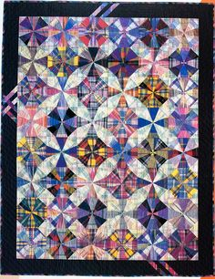 Kaleidoscope Patchwork Quilt Pattern - This Cozy Kaleidoscope Patchwork Quilt Pattern wallpapers was upload on November, 14 2 Star Quilts, Scrappy Quilts, Quilt Blocks, Circle Quilts, Batik Quilts, Vintage Quilts Patterns, Patchwork Quilt Patterns, Quilting Projects, Quilting Designs